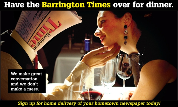 Dinner with the Barrington Times