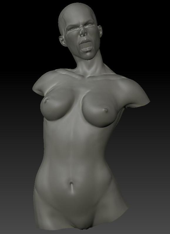 Screaming Siri sculpt